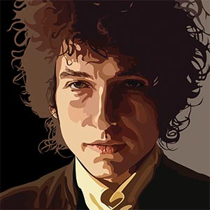 Bob Dylan Canvas Artwork
