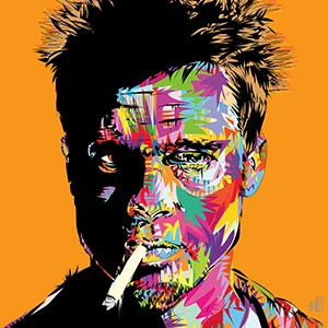 Brad Pitt Canvas Art