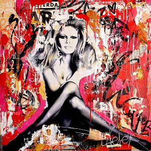 Brigitte Bardot Canvas Art