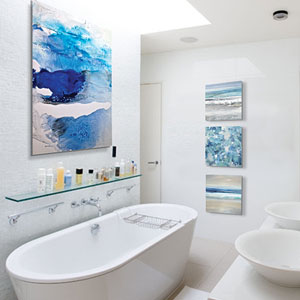 Relaxing Spa Bubbles Canvas Artwork