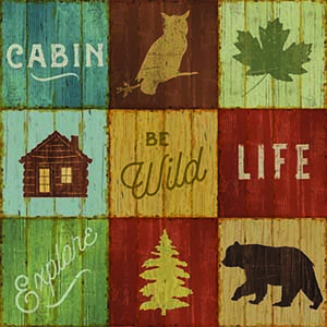 Cabin and Lodge Decor Canvas Artwork