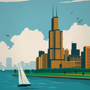 Chicago Posters Canvas Wall Art