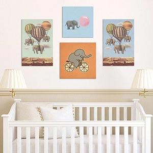 Circus Fun Canvas Artwork