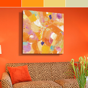 Citrus Orange Canvas Artwork