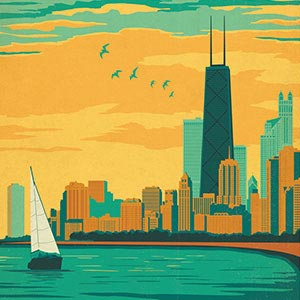 City Travel Posters Canvas Art