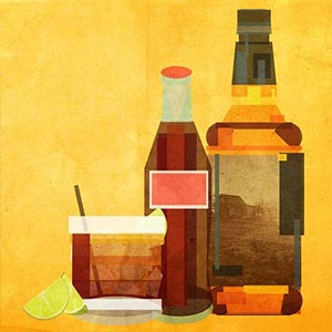 Classic Cocktails Canvas Artwork