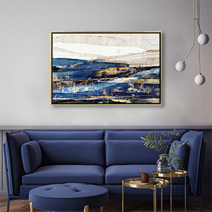 Classic Blue Canvas Wall Art
