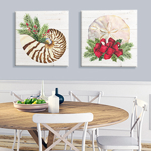 Coastal Christmas Canvas Artwork