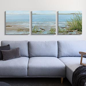Contemporary Southwest Coastal Canvas Wall Art Scandinavian Living Room