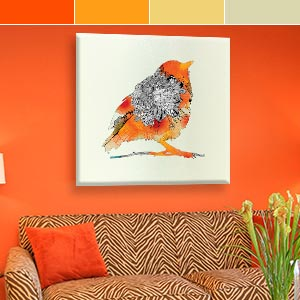 Citrus Orange Canvas Prints