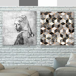 Gray & White Canvas Wall Art