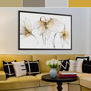 Gray & Yellow Canvas Wall Art