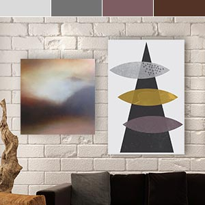 Neutrals with a Violet Twist Canvas Prints