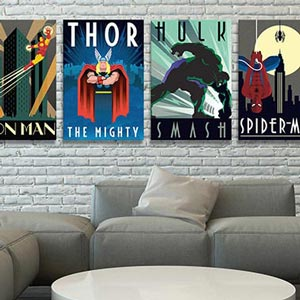 Nice Man Cave Decor   Canvas Prints. Comic Book Heroes Canvas Wall Art