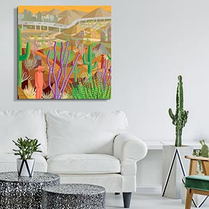 Black White Contemporary Southwest Canvas Artwork