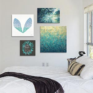 Cool Blue Hues Canvas Art