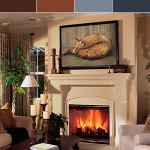 Cozy Color Palette Canvas Wall Art