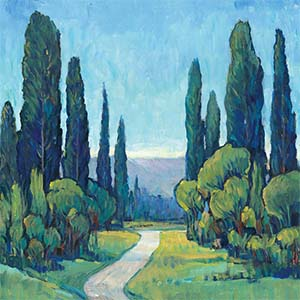 Cypress Trees Canvas Artwork