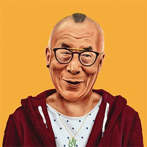Dalai Lama Canvas Prints