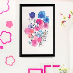 Fun Florals Canvas Wall Art