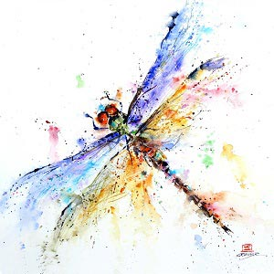 Dragonflies Canvas Art