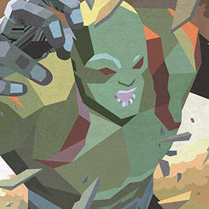Drax the Destroyer Canvas Wall Art