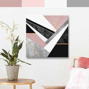 Dusty Pink Canvas Artwork