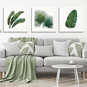 Earthen Greenery Canvas Art Prints