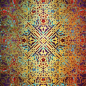 Ethnic Geometry Canvas Artwork