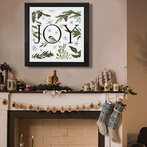 Evergreen & Burlap Canvas Art Prints
