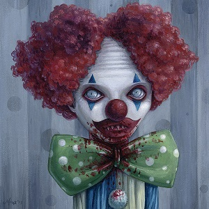 Evil Clowns Canvas Art