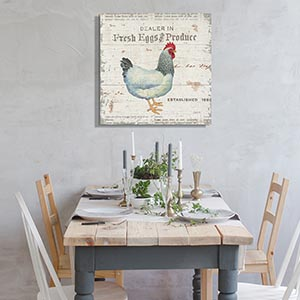 Farmhouse Kitchen Canvas Art Prints