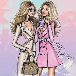 Fashion Illustrations Canvas Art
