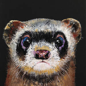 Ferrets Canvas Wall Art