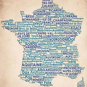 France Canvas Wall Art