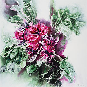 Green Meets Pink Art Prints