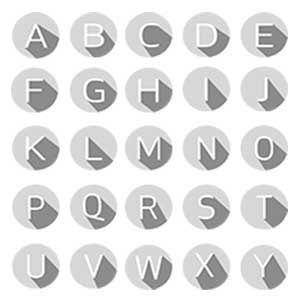 Full Alphabet Canvas Art Prints