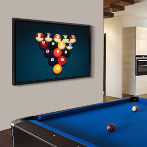 Game Room Canvas Wall Art