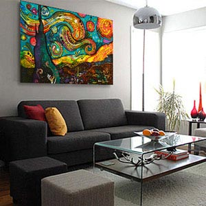 Colorful Accents Canvas Prints