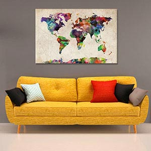 Maps Canvas Art Prints