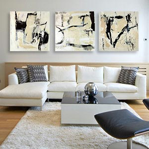 3 Piece Custom; Art Sets Canvas Artwork