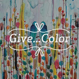 Give...Color Canvas Artwork
