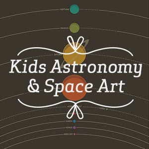 Kids Astronomy & Space Art Canvas Artwork