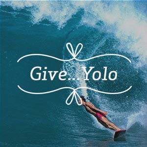 Give...YOLO Canvas Artwork