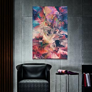 Glitch Ruined Effect Canvas Prints