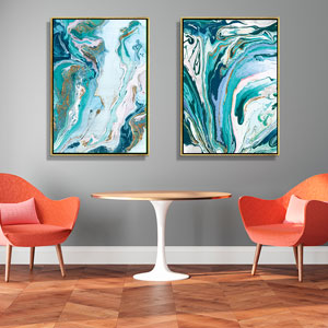 Go with the Flow Canvas Wall Art