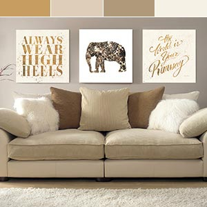 Gold Canvas Wall Art