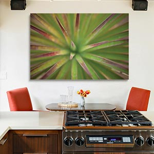 Green Leaves  Canvas Art