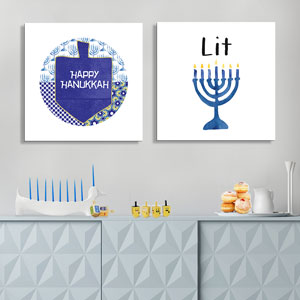 Hanukkah Canvas Art Prints