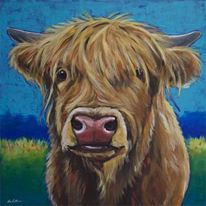 Highland Cows Canvas Artwork